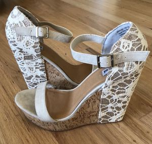 Stylish platform shoes with lace for Sale in Mill Valley, CA