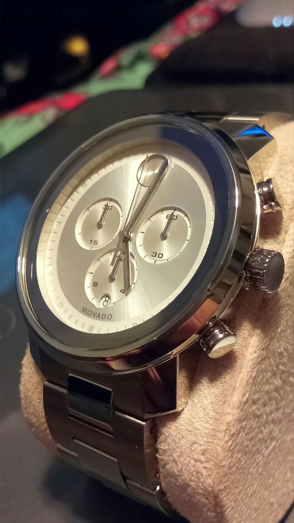 58b7fd24a Movado BOLD Chronograph Watch (silver) for Sale in Kent, WA - OfferUp