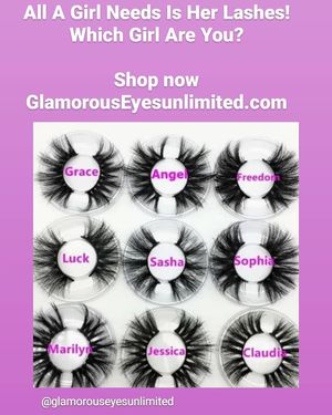 25mm dramatic soft beautiful mink lashes for Sale in Fresno, CA