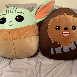 Baby Yoda & Chewbacca 20 Inch Squishmallow Set for Sale in Riverside, CA