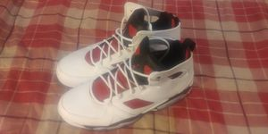 AIR JORDAN MENS FLIGHT CLUB 91 555475-121 RETRO RED BLACK WHITE CARMINE VI 6 NEW SIZE 10.5 for Sale in Arlington, VA