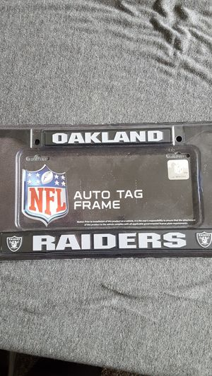 Brand new never opened raiders license plate frame for Sale in Anaheim, CA