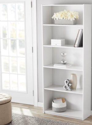 New!! Bookcase, 5 shelf bookcase, bookshelves, organizer, living room furniture, storage unit , white for Sale in Phoenix, AZ