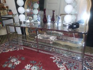 Chrome and glass coffee table for Sale in Fresno, CA