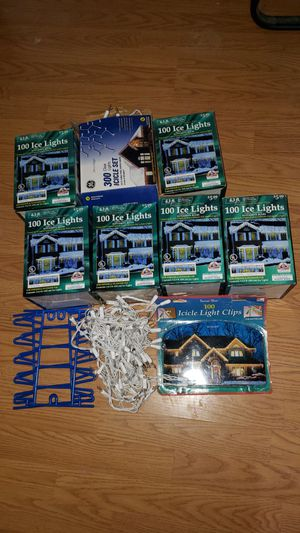 Christmas Home Decorating Icicle Lights for Sale in Aurora, CO