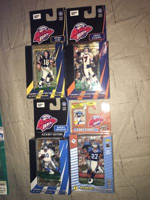 1998 Topps Action Flats Kickoff Edition Barry Sanders elway leaf Eddie George Figure & Card Lions for Sale in Rochester Hills, MI