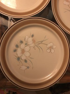 3 dinner plates vintage 70's hearthside water color dawn series japan for Sale in Portland, OR