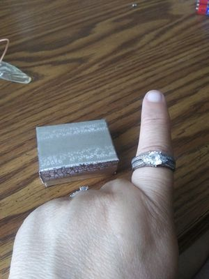 Sterling silver wedding set size 10 ladys ring for Sale in Greenwood, MS
