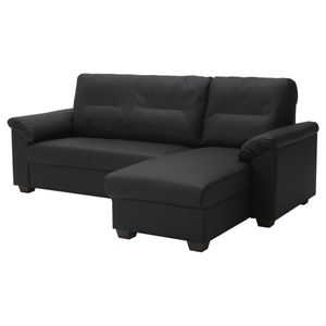 IKEA Black Couch Sectional with Chaise for Sale in Fremont, CA