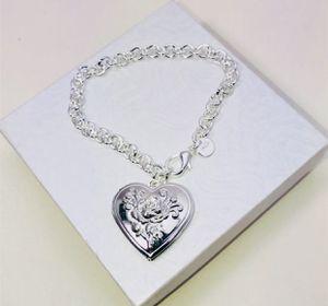 """""""SILVER HEART ❤️ LOCKET!"""" Beautiful.925 Stamped Sterling Silver locket bracelet NEW! for Sale in Carrollton, TX"""