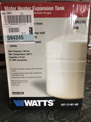 WATTS Water heater expansion tank for Sale in Hudson, NH
