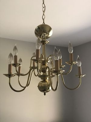 Gold chandelier for Sale in Gaithersburg, MD