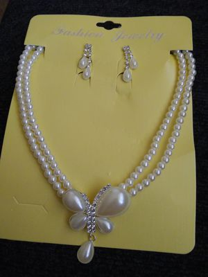CZ Diamond and Pearl matching set for Sale in Camp Hill, PA