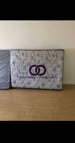 QUEEN MATTRESS BED PILLOW TOP COMFORT FREE BOX SPRING 🎗️Mattress&Furniture🎗️ QUEEN FULL KING TWIN 🎗️ COLCHONES NUEVOS Y CAMAS for Sale in North Miami Beach,  FL