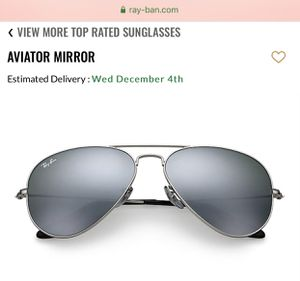 Ray Ban Silver Mirror Aviator Sunglasses - unisex brand new never worn, case and cloth included for Sale in Chicago, IL