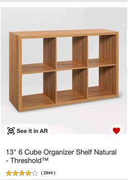 "*BRAND NEW IN BOX* Threshold 13"" 6 Cube Organizer Shelf Natural for Sale in Cumming, GA"