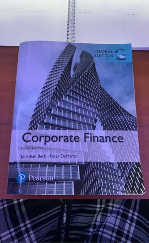 Corporate Finance Textbook - Fourth Edition for Sale in Berkeley, CA