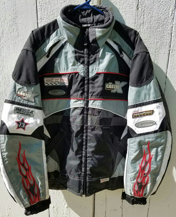 Castle Snowmobile Coat and 2 hats