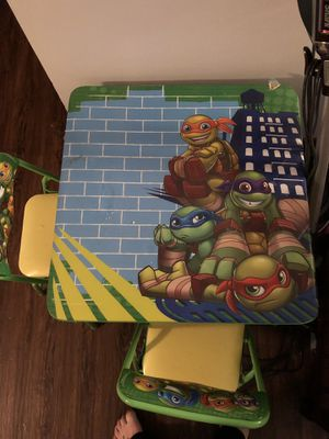 Turtle kid table and chair set for Sale in Brunswick, OH