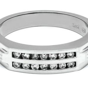 U3568 14K GOLD MENS DIAMOND WEDDING BAND 0.32CT RING 5.50GRAMS for Sale in San Diego, CA