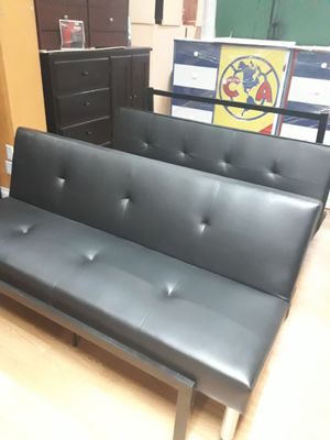 Nice Leather Futon Sofa bed for Sale in Hemet, CA