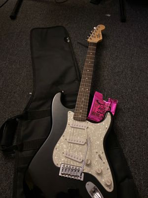 Squier by fender guitar Stratocaster Black with bag and Strings! for Sale in North Las Vegas, NV