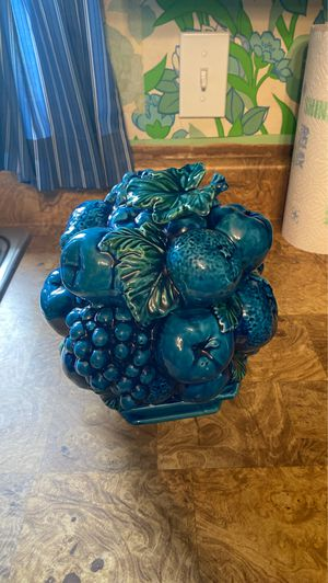 Vintage Inarco Blue Fruit Bowl for Sale in Sioux Falls, SD