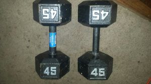 45 lb weight dumbbells for Sale in Bath, NY