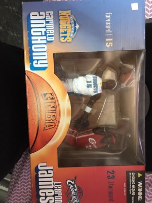 Mcfarlane toys Lebron James Carmelo Anthony collectible toy for Sale in Brooklyn, NY
