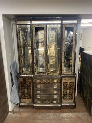 Antique mirrored cabinet w/ smoke glass doors (project piece) for Sale in Beaver Falls, PA