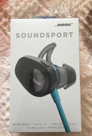 Bose SoundSport Wireless Headphones, Aqua for Sale in Farmington Hills, MI