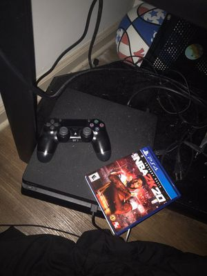A playstation 4 slim console and controller for Sale in Hermon, ME