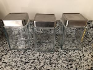 3 Glass Storage Container for Sale in Springfield, VA