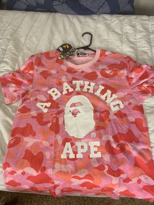 Pink Camo bape shirt size XL for Sale in Carlsbad, CA