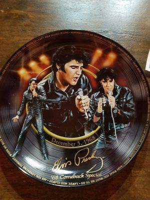 Elvis Presley Plate for Sale in Bridgewater, ME