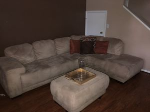 Sectional and Ottoman for Sale in Tampa, FL