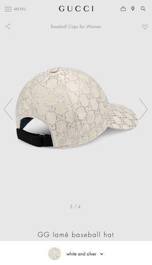 GUCCI GG lamé baseball hat for Sale in Yucaipa, CA