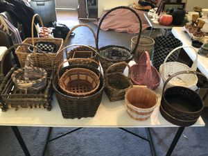 LOT of all kinds of baskets for Sale in Nashville, TN