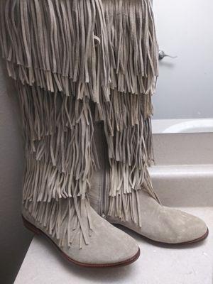 Zara Leather fringe boots for Sale in Renton, WA