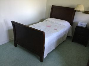 Twin bed frame with mattress (no covers or pillow). for Sale in San Diego, CA