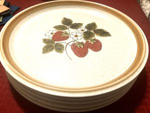 Vintage Mikasa Stone Manor Stoneware 5 Dinner Plates for Sale in NW PRT RCHY, FL