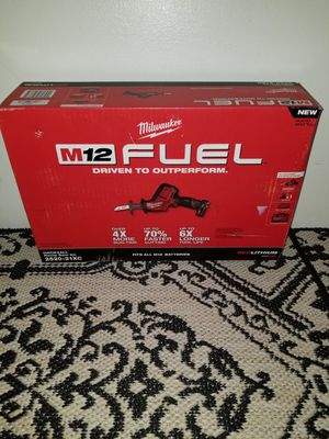 Milwaukee M12 Fuel ONE HANDED Hackzall Kit W/ XC4.0 Battery, Charger, & Contractor's Bag NEW for Sale in Saint Paul, MN
