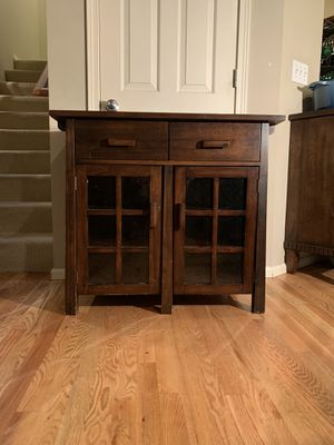 Buffet Table Accent Cabinet Hutch for Sale in Redmond, WA