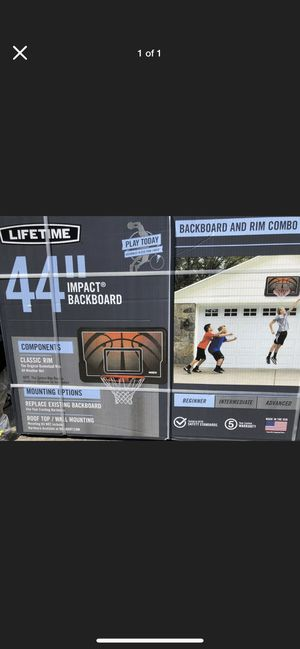 "44"" impact basketball backboard and rim hoop combo for Sale in Carrollton, TX"
