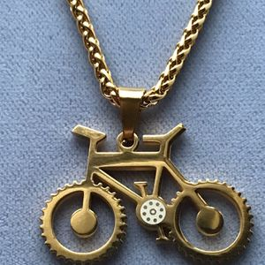 Bicycle Pendant with Chain Gold On Stainless Steel *Ship Nationwide Or Pickup Boca Raton for Sale in Boca Raton, FL