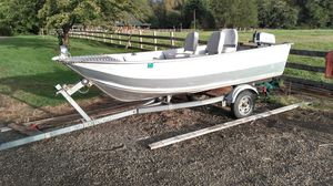 Smoker craft boat and trailer ...... for Sale in Hoquiam, WA