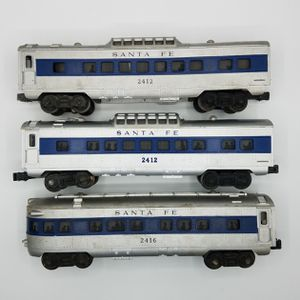 Lionel Santa Fe Lot of 3 O/O27 Illuminated 2412 2416 Vista Dome Observation Car for Sale in Chevy Chase, MD