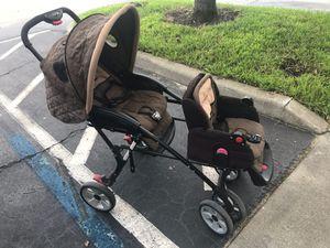Double-stroller, Eddie Bauer, brown for Sale in Orlando, FL