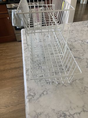 Inter metro storage basket (x2g with rack) container store for Sale in San Mateo, CA