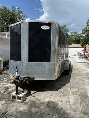 2014 7 x 16 enclosed cargo trailer for Sale in Lutz, FL